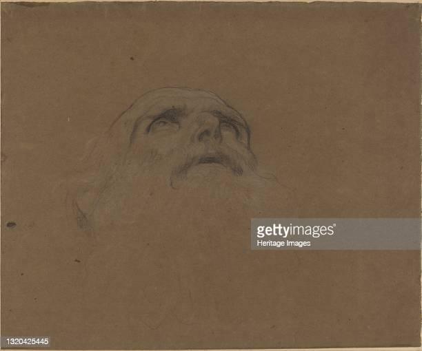 Head of an Old Man. Artist Alphonse Legros.