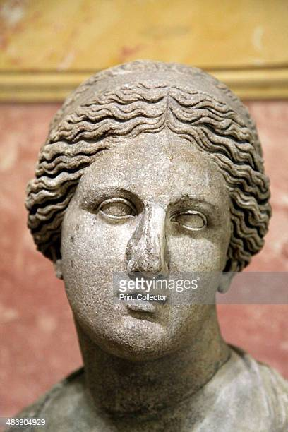 Head of Aphrodite Goddess of Beauty and Love 2nd century Roman after a Greek original of the 1st half of the 4th century BC by Praxiteles Found in...