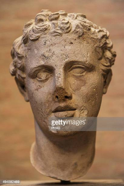 Head of Ares god of war Roman sculpture after an original of 330 BC Glyptothek Munich Germany