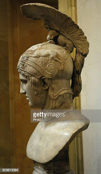 Head of Ares god of war Roman work Early 2nd c AD After the Greek original of the 420 BC by Alkamenes The State Hermitage Museum Saint Petersburg...