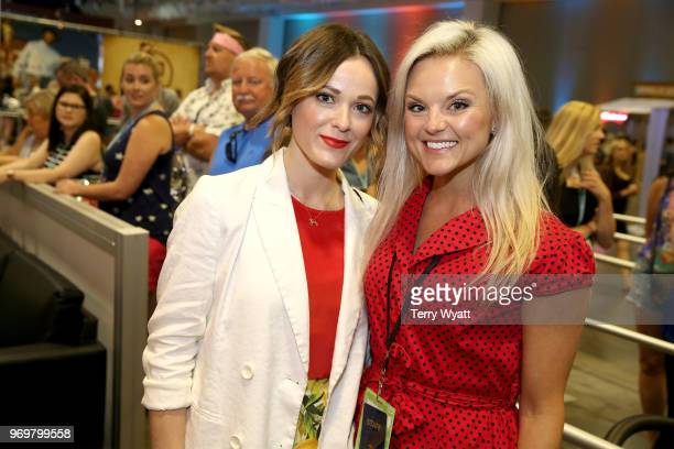 Head of Artist Label Services Brittany Schaffer and Jillian Jacqueline attend the Spotify's Music Streaming Lounge at Music City Convention Center on...