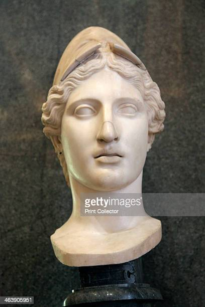 Head of Athena Goddess of Wisdom and Just War and patroness of crafts early 1st century Roman after the Greek original of the 430s420s BC by Kresilas...