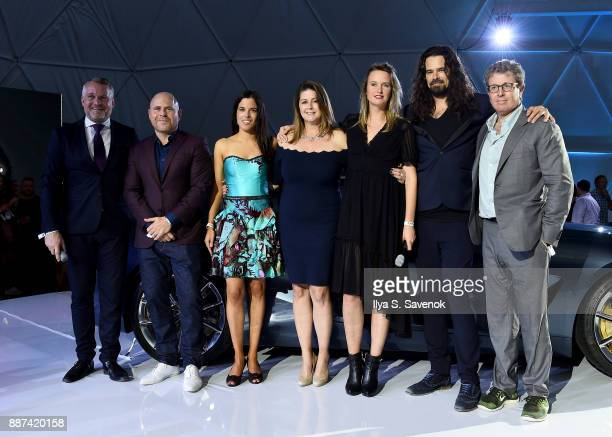 Head of BMW Group Cultural Engagement Thomas Girst Art Basel Global Director Marc Spiegler BMW Head of Brand Cooperations Arts Design Hedwig Solis...