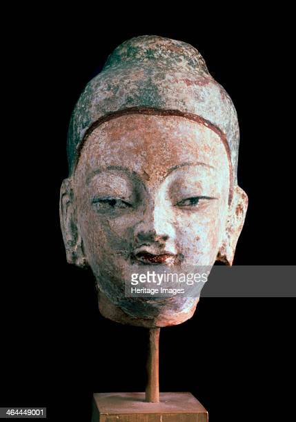 'Head of Buddha' 8th9th century Found in the collection of the State Hermitage St Petersburg