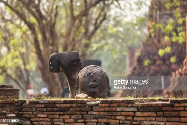 Head of Buddha statue at Wat Mahathat
