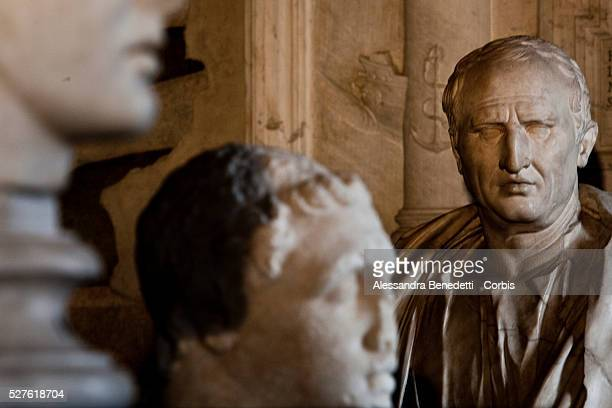 """Head of Cicero on display during the opening of a special exhibition 'L'Eta della conquista"""" """"The Edge of Conquer"""" , running from March 13 to..."""
