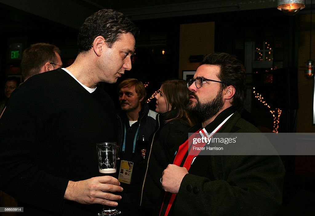 Head of Cinetic John Sloss and Director Kevin Smith arrive to the Cinetic Media Party at the Sundance Film Festival held at Zoom on January 23, 2006 in Park City, Utah.