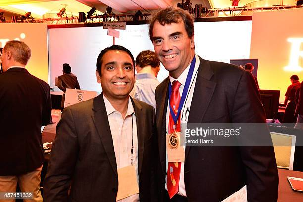 Head of CISCO's IOT Verticals Strategy Pavan Singh and Founder and Managing Director of 'Draper Fisher Jurvetson' Tim Draper attend the 2014 Kairos...