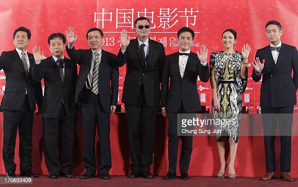 Head of CJ EM Pictures Jeong TaeSung President of Korean Film Council Kim EuiSuk director Karwai Wong actor Tony Leung Chiu Wai actress Zhang Ziyi...