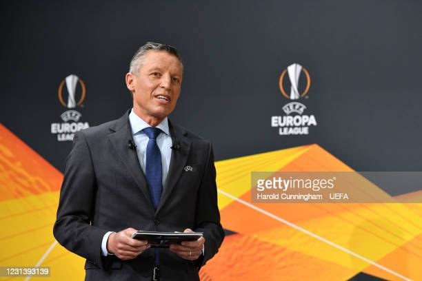 Head of Club Competitions Michael Heselschwerdt during the UEFA Europa League 2020/21 Round of 16 draw at the UEFA Headquarters, the House of...