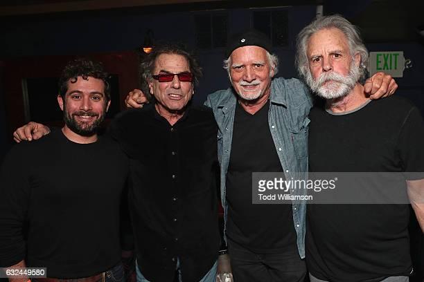 Head of Comedy and Drama at Amazon Studios Joe Lewis Mickey Hart Bill Kreutzmann and Bob Weir attend the Amazon Studios celebration of 'Long Strange...