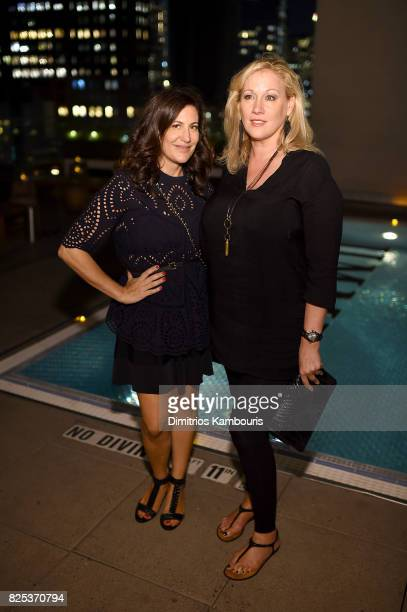 SVP Head of Communications for Combs Enterprises Nathalie Moar and Amy Sacco attend the Fun Mom Dinner After Party at The Jimmy at the James Hotel on...