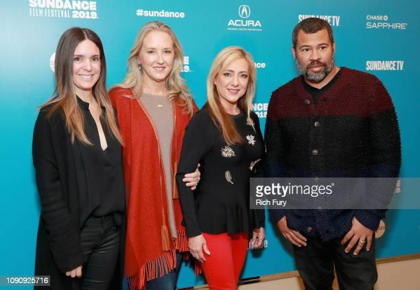 Head of Creative Unscripted TV at Amazon Studios Tracey Lentz Amazon Studios Chief Jennifer Salke Lorena Gallo and Executive Producer Jordan Peele...