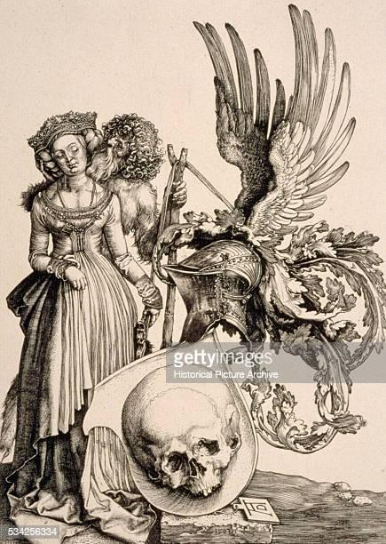 Head of Death Coat of Arms by Albrecht Durer