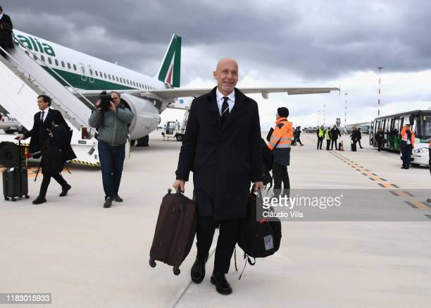 Head of Delegation of the Italian National Team Gianluca Vialli arrives in Palermo on November 17 2019 in Palermo Italy