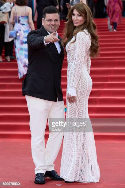Head of development of the company Bosco di Ciliegi Konstantin Andrikopulos with wife Olga attends opening of the 39th Moscow International Film...