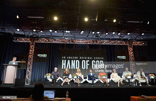 Head of Drama Amazon Studios Morgan Wandell actors Ron Perlman Dana Delany Alona Tal Julian Morris Emayatzy Corinealdi Elizabeth McLaughlin...
