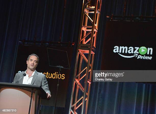Head of Drama Amazon Studios Morgan Wandell speaks onstage during the 'Hand Of God' panel discussion at the Amazon Studios portion of the 2015 Summer...