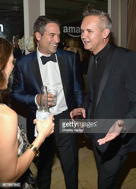 Head of Drama Development at Amazon Studios Morgan Wandell and Head of Amazon Studios Roy Price attend Amazon's Emmy Celebration at Sunset Tower...