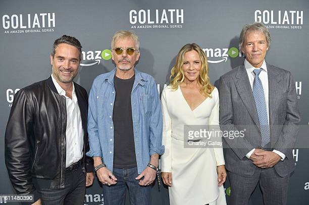 Head of Drama Series for Amazon Studios Morgan Wandell actors Billy Bob Thornton Maria Bello and Writer/Executive Producer David E Kelley attend the...