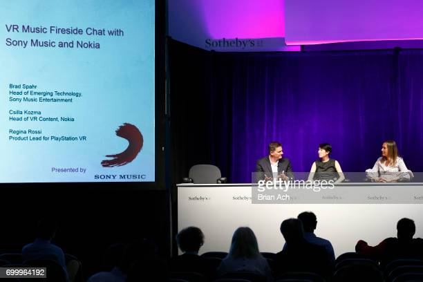 Head of Emerging Technology Sony Music Entertainment Brad Spahr Product Lead for PlayStation VR Regina Rossi and Head of VR Content Nokia Csilla...