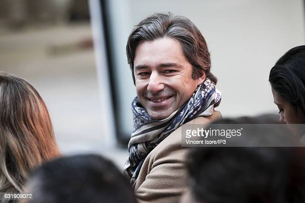 Head of Facebook France Laurent Solly attends a press conference with French businessman Xavier Niel and Facebook COO Sheryl Sandberg who announced...