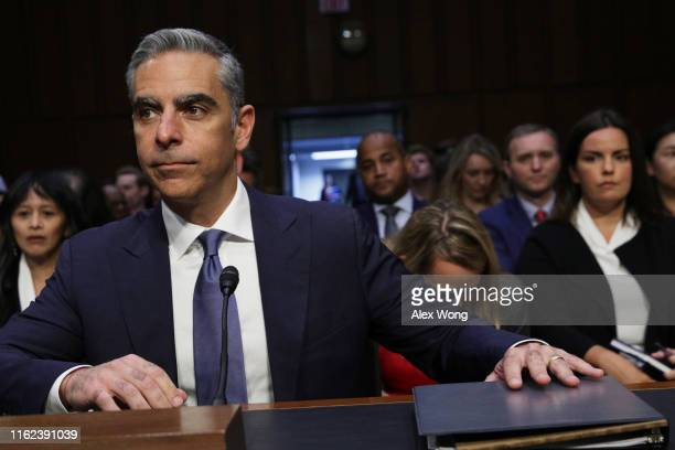 Head of Facebook's Calibra David Marcus waits for the beginning of a hearing before Senate Banking Housing and Urban Affairs Committee July 16 2019...
