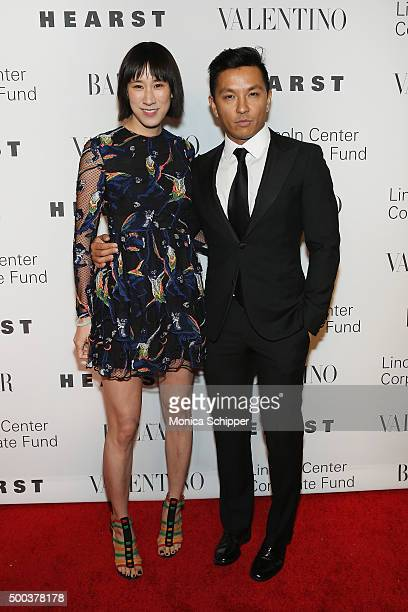 """Head of Fashion Partnerships at Instagram Eva Chen and Fashion designer Prabal Gurung attend """"An Evening Honoring Valentino"""" Lincoln Center Corporate..."""