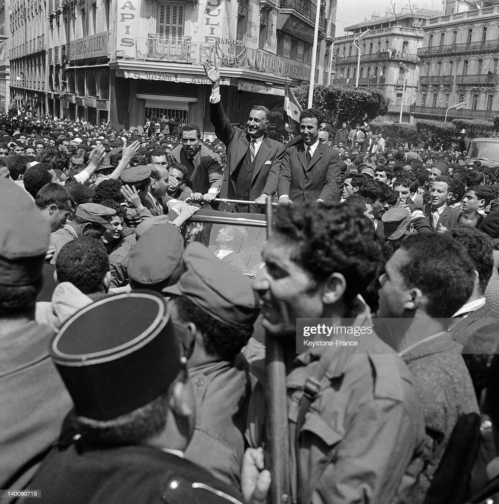 Visit Of Egyptian President Gamal Abdel Nasser In Algiers In 1963 : News Photo