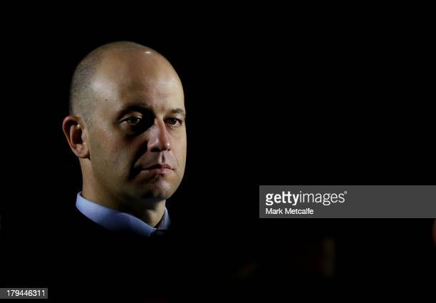 Head Of Football Todd Greenberg looks on during the NRL Auckland Nines event announcement at Rugby League Central on September 4 2013 in Sydney...