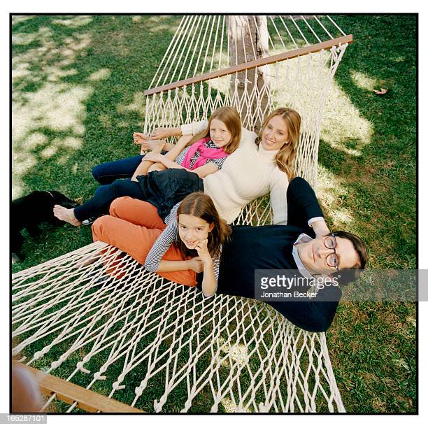 Head of Ford Global Brand Entertainment Alessandro Uzielli with wife Kimm and daughters Eleanor and Olivia are photographed for Town Country Magazine...