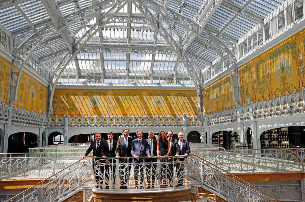 FRA: Bernard Arnault, LVMH Moët Hennessy Louis Vuitton CEO Holds A Press Conference For The Reopening Of Samaritaine Department Store
