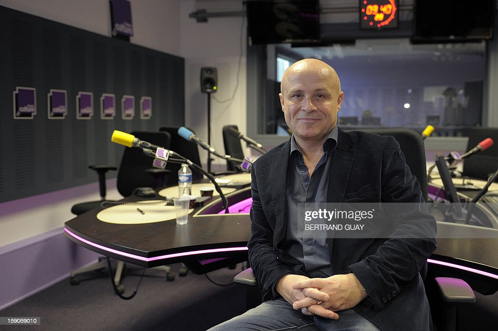 Head of French public radio station 'France Culture' Olivier Poivre d'Arvor poses on January 7, 2013 in a set of the Maison de la radio in Paris.