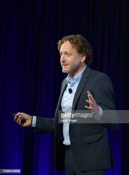 Head of Global Policy & Social Impact for Lyft Mike Masserman speaks onstage during the 2018 Concordia Annual Summit - Day 1 at Grand Hyatt New York...