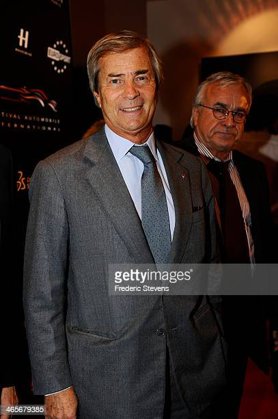 Head of groupe Bollore Vincent Bollore during the 29th International Automobile Festival on January 28 2014 in Paris France