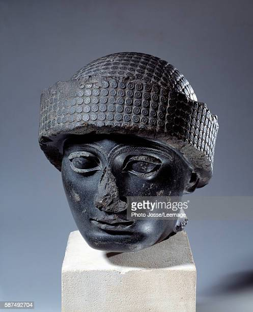 Head of Gudea Prince of Lagesh from Telloh NeoSumerian c2150 BC Louvre Paris France