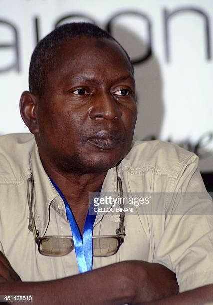 Head of Guinea's Prevention and Fight Against Disease division Sakoba Keita delivers the weekly press conference of the interdepartmental committee...