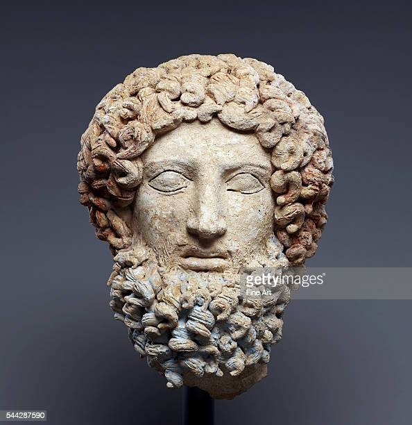 Head of Hades c 400300 BC terracotta and polychromy from Morgantina Sicily Italy 273 x 205 x 185 cm The J Paul Getty Museum Malibu California