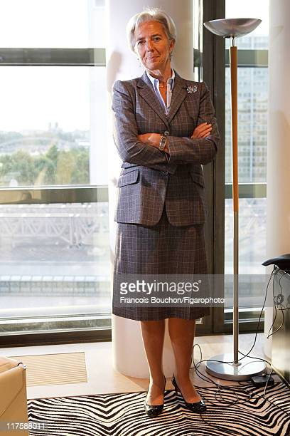 Head of IMF Christine Lagarde is photographed for Le Figaro Magazine on May 10 2011 in Paris France Published image Figaro ID 100989031 CREDIT MUST...
