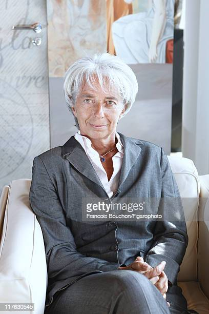 Head of IMF Christine Lagarde is photographed for Le Figaro Magazine on August 14, 2008 in Paris, France. Published image. Figaro ID: 081659-017....