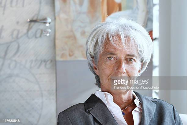 Head of IMF Christine Lagarde is photographed for Le Figaro Magazine on August 14 2008 in Paris France Published image Figaro ID 081659018 CREDIT...
