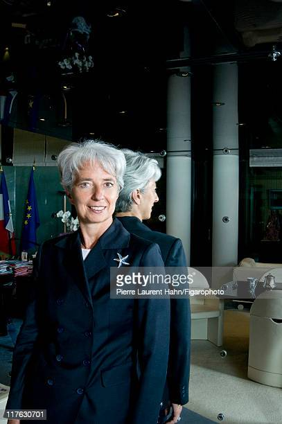 Head of IMF Christine Lagarde is photographed for Le Figaro Magazine on May 20 2008 in Paris France Published image Figaro ID 083583001 CREDIT MUST...