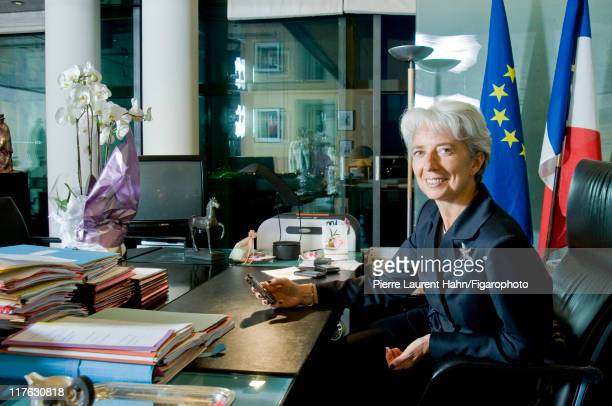 Head of IMF Christine Lagarde is photographed for Le Figaro Magazine on May 20 2008 in Paris France Published image Figaro ID 083583012 CREDIT MUST...
