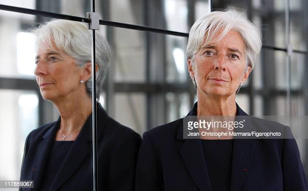 Head of IMF Christine Lagarde is photographed for Le Figaro Magazine on September 14 2010 in Paris France Figaro ID 098704062 CREDIT MUST READ...
