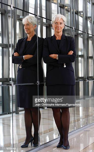 Head of IMF Christine Lagarde is photographed for Le Figaro Magazine on September 14 2010 in Paris France Published image Figaro ID 098704067 CREDIT...