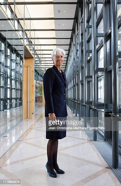 Head of IMF Christine Lagarde is photographed for Le Figaro Magazine on September 14 2010 in Paris France Figaro ID 098704079 CREDIT MUST READ...