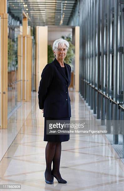 Head of IMF Christine Lagarde is photographed for Le Figaro Magazine on September 14 2010 in Paris France Published image Figaro ID 098704069 CREDIT...