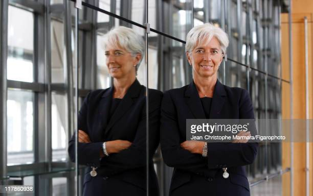Head of IMF Christine Lagarde is photographed for Le Figaro Magazine on September 14 2010 in Paris France Figaro ID 098704065 CREDIT MUST READ...