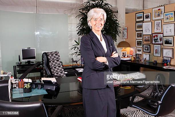 Head of IMF Christine Lagarde is photographed for Le Figaro Magazine on April 15 2010 in Paris France Figaro ID 097332037 CREDIT MUST READ...