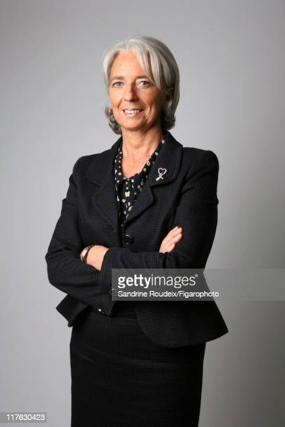 Head of IML Christine Lagarde is photographed for Le Figaro Magazine on March 16 2009 in Paris France Published image Figaro ID 084077029 CREDIT MUST...